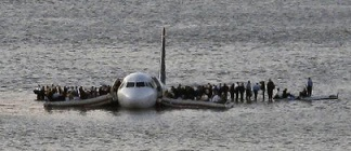 US Airways jet lands on the Hudson