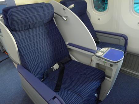 passenger seat aboard boeing dreamliner