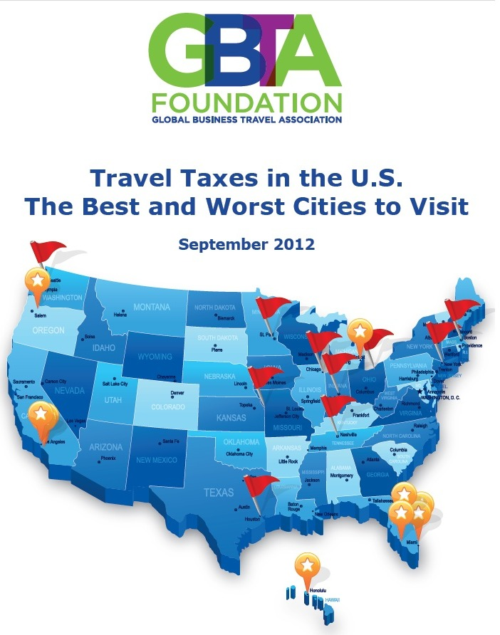 GBTA travel taxes map