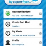 Seat Alerts Android App - Home Screen
