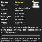 Seat Alert - Seat Reviews from Seat Guru