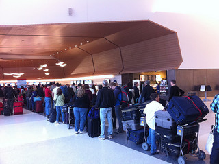 long airport lines