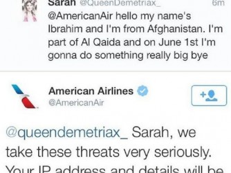 Teen tweeting terror to AA is arrested
