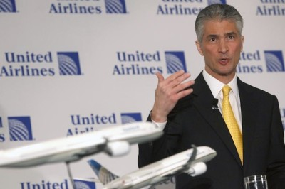 United Chairman, Jeff Smisek; photo: REUTERS/Shannon Stapleton