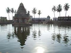 Sacred temple water tank of Koviloor, Tamil Nadu