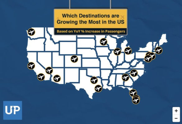 The Fastest Growing U.S. Destinations by Origin Airport [Interactive Map]